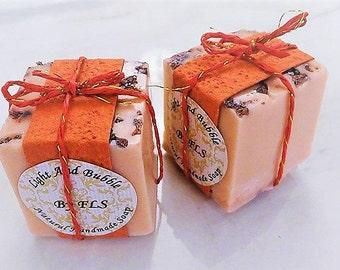 Grapeseed oil soap cube - shea butter - Sea Salts