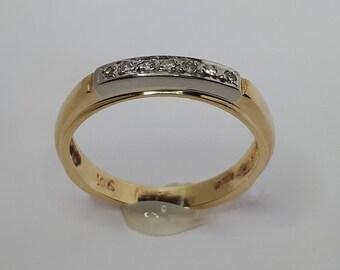 Wedding Ring, Diamond Wedding, Wedding Rings, Anniversary Ring, Diamond Engagement Ring, Diamond Ring, White and Yellow Gold Ring