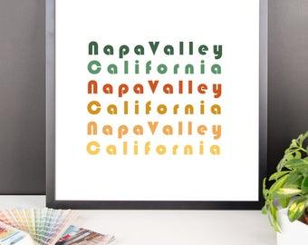 Napa Valley California Art Print