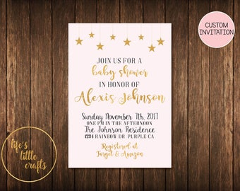 Twinkle Twinkle Baby Shower Invitation - Twinkle Twinkle Baby Shower invitation- Twinkle Twinkle Invitation