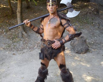 Barbarian FULL Armor Kit | Viking Costume | Leather Armor | Body Armour | Custom Armor | Armor set | Leather vambraces