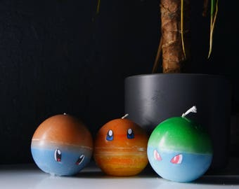 Bulbasaur, Squirtle & Charmander! - Kanto Starter Pokemon Candles