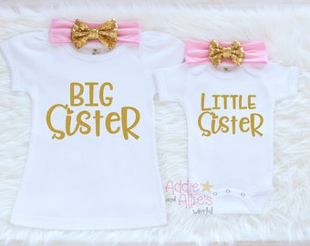 Sibling Outfits, Big Sister Little Sister Shirt, Little Sister Shirt, Big Sister Shirt, Matching Sisters Shirts, Big Sister Shirt, SS3P