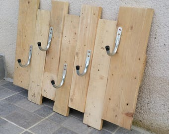Coat rack 5 industrial hooks