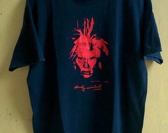 Rare vintage pop art andy warhol self potrait the andy warhol museum shirt tees t-shirt size L