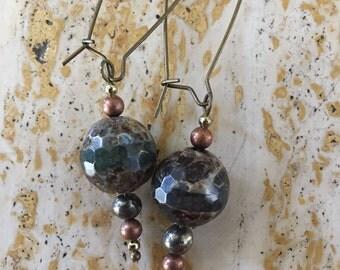Metal Beaded Earrings