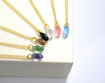 Crystal Necklace, Necklaces For Women, Dainty Necklace, Drop Necklace, Swarovski Necklace, Crystal Jewelry, Gold Necklace, Gift For Her