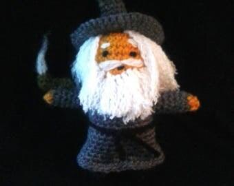 Gandalf amigurumi, crochet Gandalf, amigurumi wizard, Lord of the rings amigurumi, Gandalf the Grey amigurumi, crochet plushie