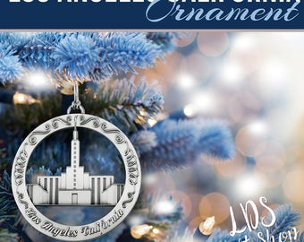 Los Angeles California LDS Temple Ornament