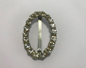 Vintage Rhinestone Belt Buckle - Turn of The Century Restoration