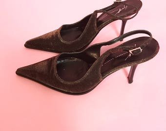 Giuseppe Zanotti sparkly lurex pointy heels