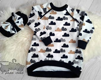 Custom Made Girl tunic balloon  / asymetrical dress / shirt / hoodie