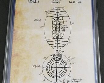 Football Patent Art Prints Set