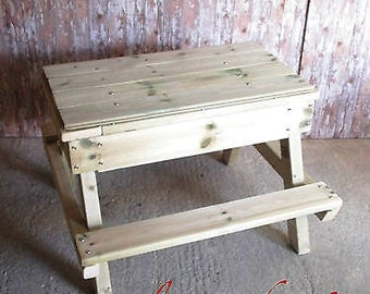 Kids Wooden Sandpit Table