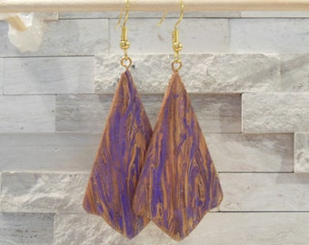 Unique Earrings - Statement Earrings - Gift Earrings - Paper Jewelry - Drop Earrings - Hand Crafted -  One of a Kind Earrings