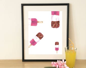 Fab Ice Lolly Poster Download, Fab, Printable Art, Self Print, Wall Decor, Abstract Ice Lolly Art