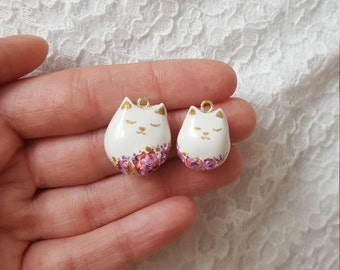 Set of 2 kitty charms