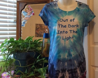 Out of the Dark and Into The Light, #18, Large Scoop Neck, Ladies