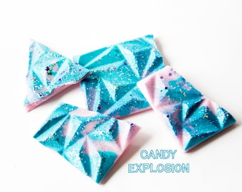 Candy Explosion Wax Brittle (3.8) - Hand Poured Wax Melts - Candy Scented - Handmade Wax Melts - Wax Brittle - Glitter Wax Melts - Wax