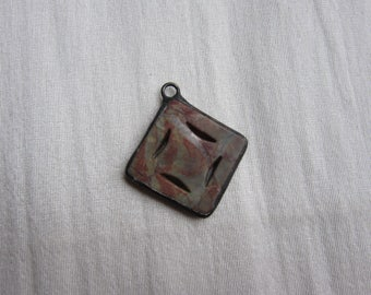Hand Soldered Carved Stone Pendant