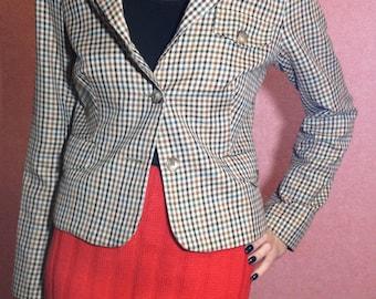 Checkered Jacket/vintage sinequanone jacket