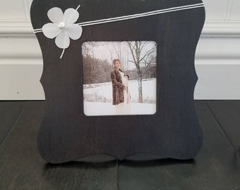 Photo Frame | Homemade Wooden Frame | picture frame | table top frame | Home Decor | Bold | black | white | Gift | cute