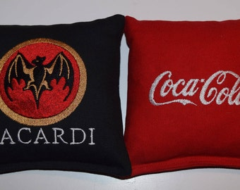 Embroidered Bacardi & Coca-Cola Cornhole Bags Set of Eight - Sweet