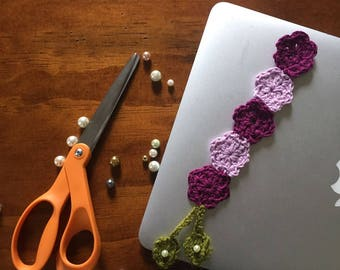 Floral Crocheted Bookmark