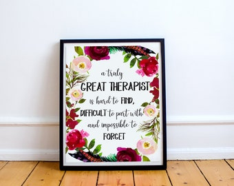 Therapist Gift, A truly great therapist is hard to find,Office decor, Going Away Retirement Gift,Personalized,Counselor gift,doctor gift