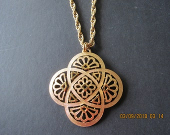 Trifari pendant and chain, vintage