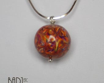 Colorful ball necklace pendant bead