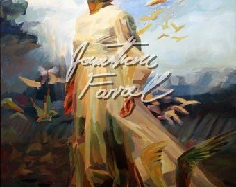 """Laodicea (Prayer for North America) 11"""" x 14"""" print of impressionistic oil painting"""