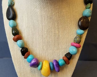 Rustic Stone Necklace