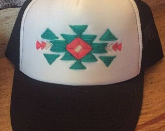 Tribal Aztec embroidered hat