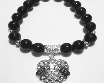 Love New York Beaded Bracelet
