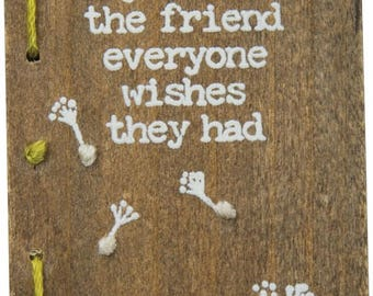 Friend Stitched Wood Block/Magnet