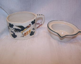 Pottery,Kitchen, Butter Warmer, Made in Japan, Rooster