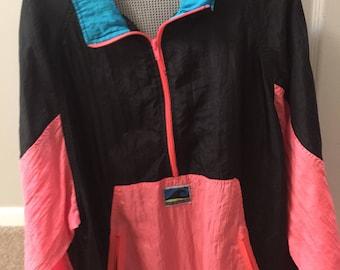Vintage 80s  Neon Snow Jacket/Wind Breaker