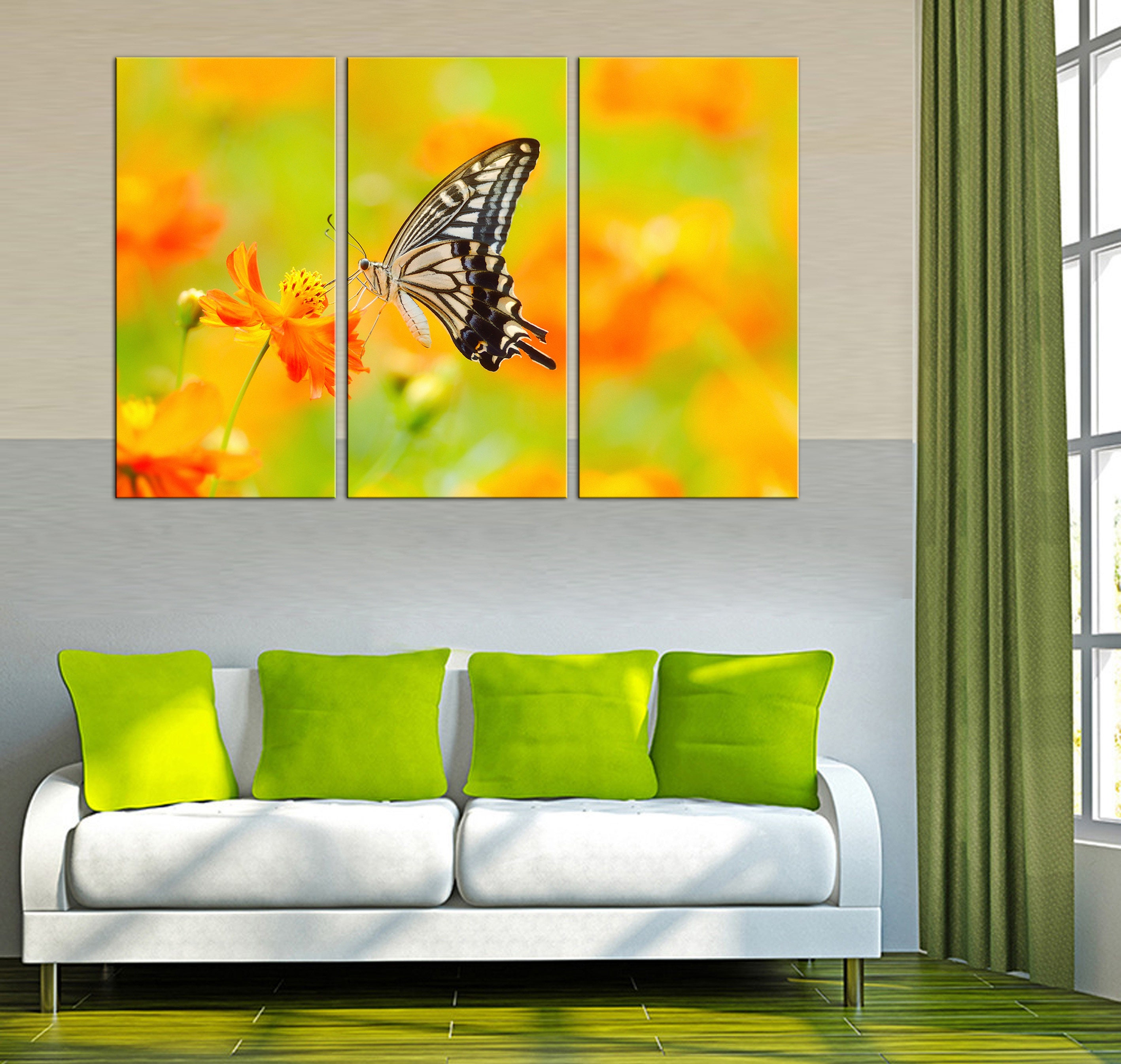Wall decor Butterfly canvas decor Butterfly wall art Decor canvas ...
