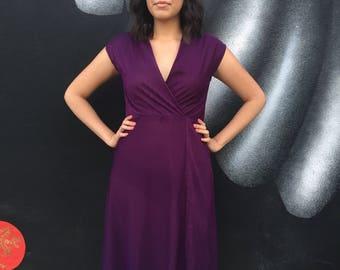 Vintage purple 1980's dress.