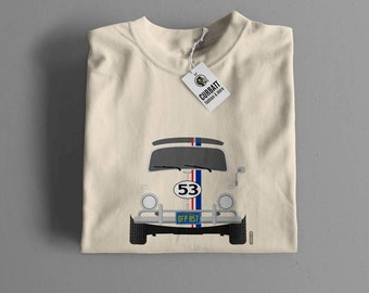T-shirt Volkswagen Beetle Herbie | Gent, Lady and Kids | all the sizes | worldwide shipments | Car Auto Voiture
