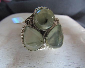 Ring Silver 925 and Phrenite - find her spiritual path through life
