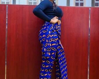 Salmuna African print Ankara trouser wrap