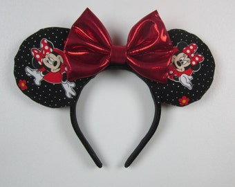 Classic Minnie Ears, Sequin Minnie Mouse Ears, Sequin Ears, Mickey Mouse Ears, Polka Dot Minnie, Sequin Mouse Ears - Disney Vacation Ears