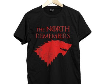 The north remember, the north remember shirt, game of thrones, game of thrones shirt, house stark, jon snow shirt, king in the north shirt