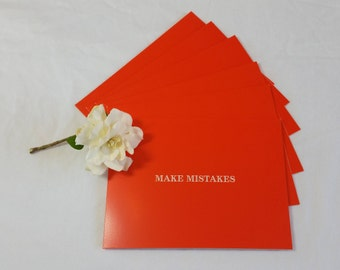 Orange Note Cards Set of 6 with Envelopes