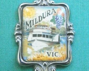 "tea spoon ""Mildura, Vic.""/silver plated/Collectables/Australia"