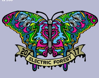 PRESALE* Forest Butterfly V1 Electric Forest Hat Pin