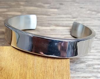 Handmade Heavy Silver Bangle (65g)