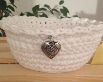 Crocheted basket Textillgarn
